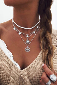Katielike Hollow-Out Silver Necklace
