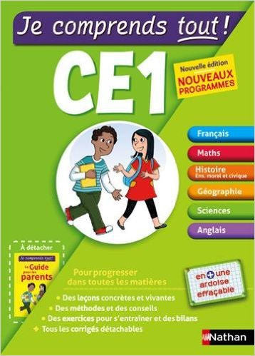 French Elementary Workbooks - Learn Subjects in French