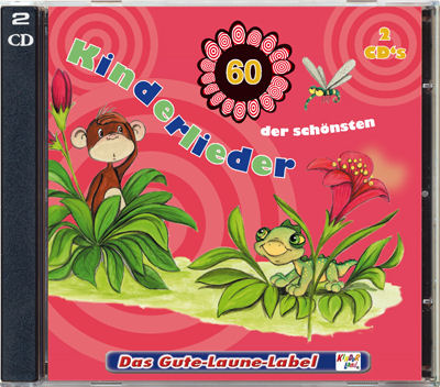 60 der schönsten Kinderlieder cds - This fantastic 2 CD set we imported from Germany has 60 children's rhymes and songs - 130 minutes of music.
