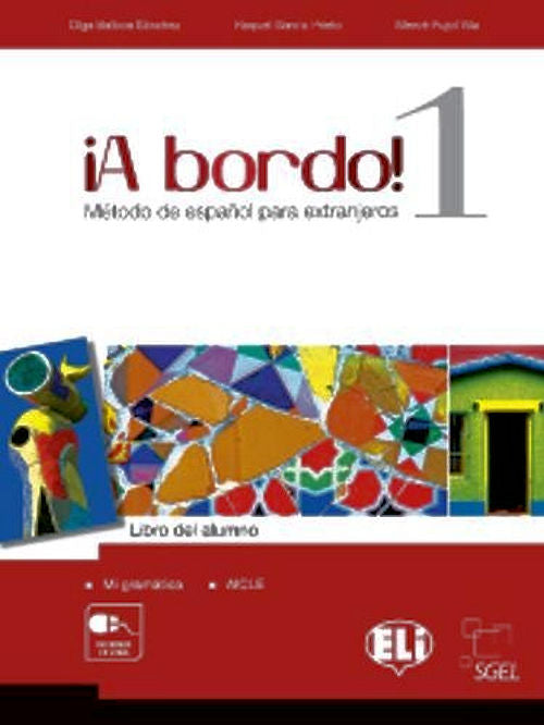 A bordo 1 libro del alumno - Fantastic middle school (or high school) Spanish textbook - published in 2013. The first student's book contains 12 and the second 10 units.