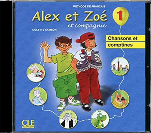 Alex et Zoé 1 Audio CD - This delightful French audio cd complements the first level textbook with French songs and rhymes.