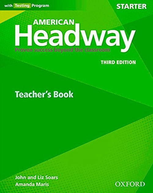 American Headway Starter Teacher's Resource Book with Testing Program - The teacher's book is a valuable resource.