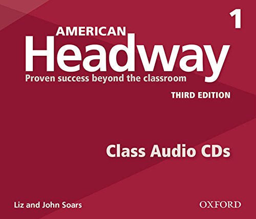American Headway Level 1 Class CDs - The set of 3 Student audio CDs feature all of the listening activities in the student book. These CDs enable students to do the listening activities and exercises in the student book and improve their oral comprehension.