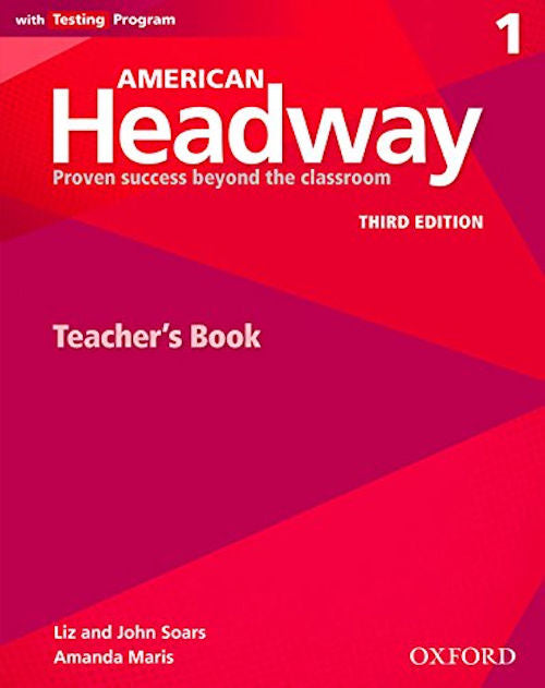 American Headway Third Edition Level 1 Teacher's Resource Book with Testing Program  - This valuable resource includes a selection of reproducible activities including songs, Progress Tests and 'Stop and Check' quizzes and an answer Key