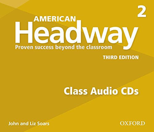 American Headway Third Edition Level 2 Class CDs - The set of 3 Student audio CDs feature all of the listening activities in the student book