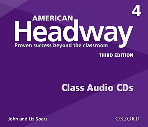 American Headway Third Edition Level 4 Class CDs -The set of 3 Student audio CDs feature all of the listening activities in the student book