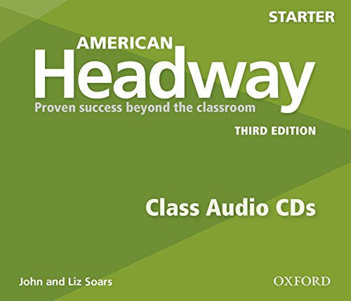 American Headway Starter Level Class CDs - The set of 3 Student audio CDs feature all of the listening activities in the student book
