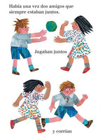 Amigos - Friends by Eric Carle. Sample page from this adorable Spanish board book about friendship!