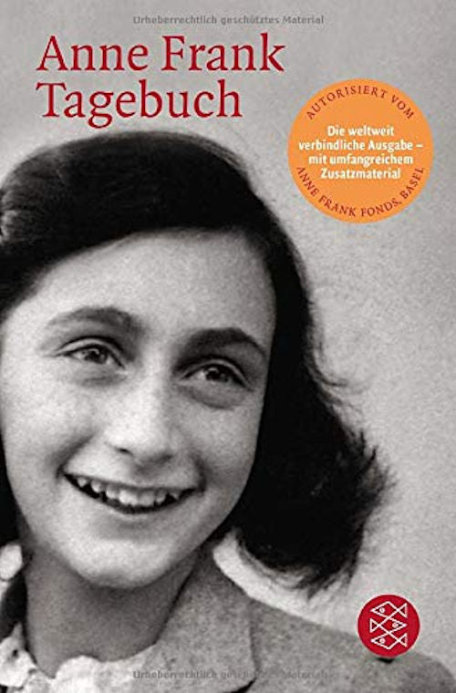 Anne Frank Tagebuch - Anne Frank's Diary in German. A diary that everyone should read. A beloved classic since its publication in 1947, a memorial to the Jewish teenager who died.