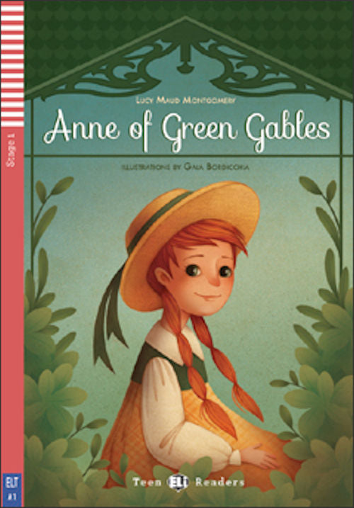 Anne of Green Gables by Lucy Maud Montgomery and retold by Michael Lacey Freeman.  One day, in Canada, an eleven year old girl, Anne, arrives at Green Gables.