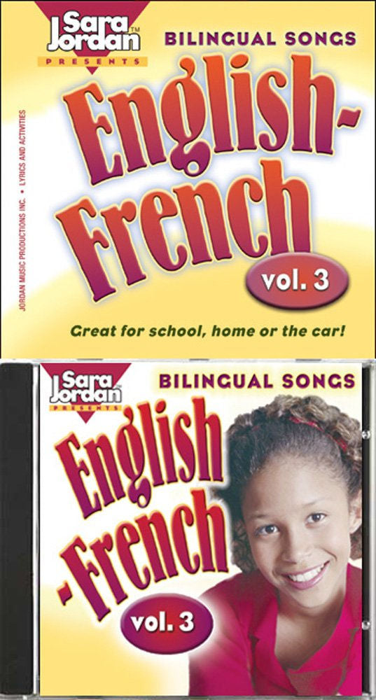 Bilingual Songs - English-French - volume 3 - Twelve upbeat, bilingual songs teach: greetings, gender, articles, plural forms of nouns, cardinal and ordinal numbers, descriptive adjectives, punctuation, common phrases and much more!