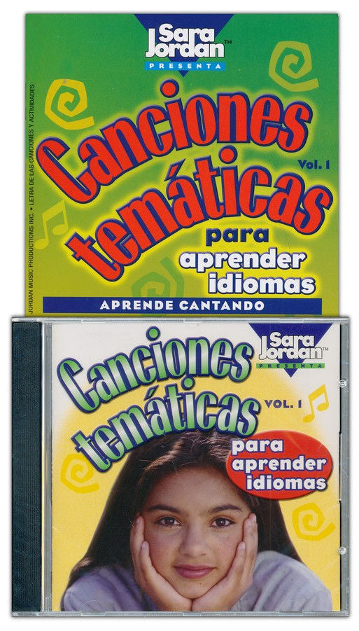Canciones Temáticas CD - Thematic introductory level Spanish songs teach common expressions, modes of transportation, clothing, mealtime, weather, parts of the body, pets and rooms of the house.