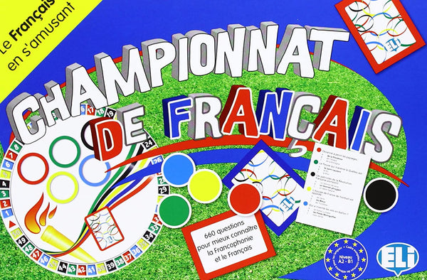 Championnat de Français - This fascinating French board game for intermediate students (Level A2-B1) offers 660 questions to better know French and Francophone culture