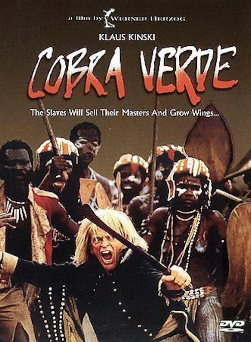 Cobra Verde DVD - 1988 film directed by Werner Herzog. Klaus Kinski as a madman
