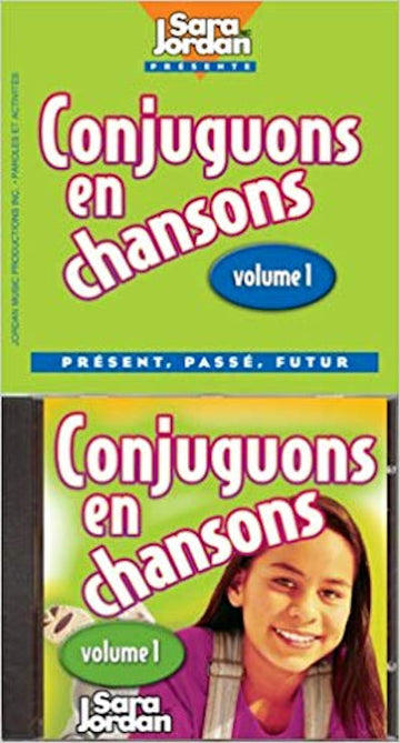 Conjuguons en Chansons CD and Booklet