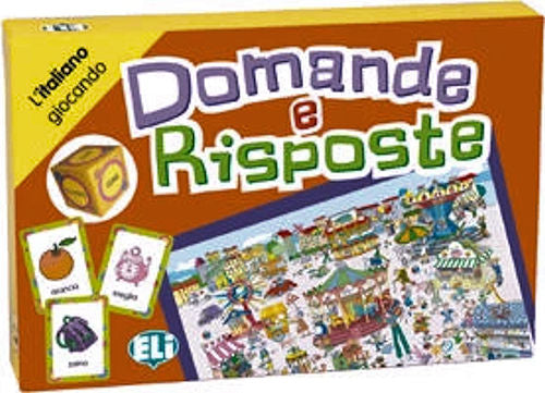 Domande e Risposte - A board game for Italian students - beginning to intermediate levels. Goal: Learn how to use pronouns and interrogative adverbs.