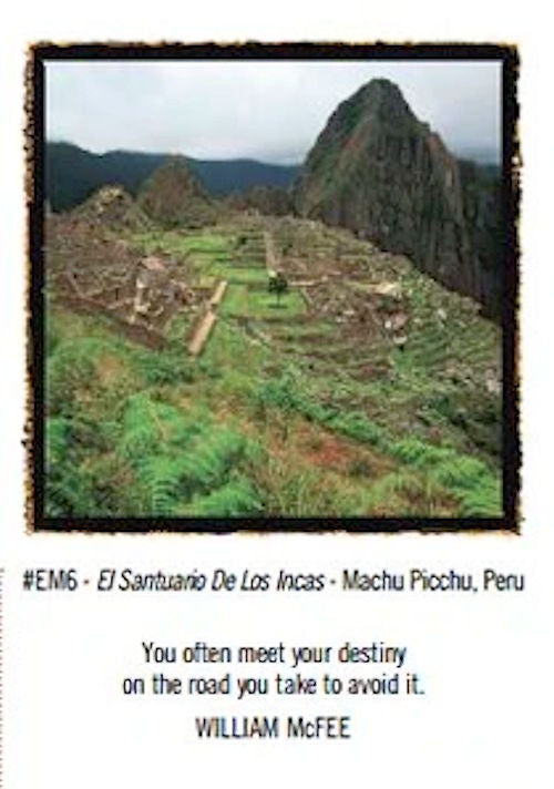 El Santurario de los Incas Greeting Card - Photograph from Machu Picchu, Peru by world renowned photographer Emerson Matabele.
