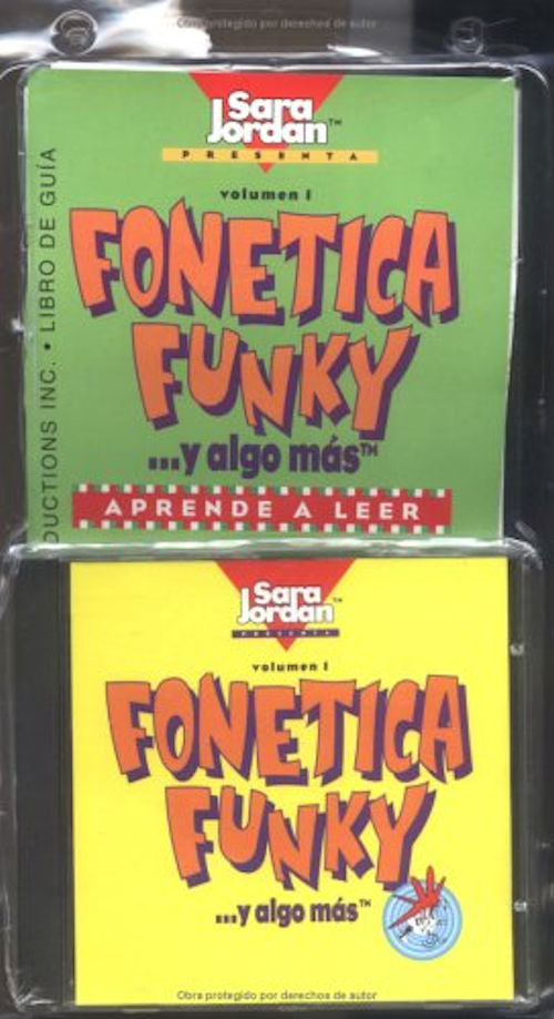 Fonetica Funky CD - Phonics rap songs in Spanish that teach the alphabet, vowels, consonants, time, days of the week, seasons, the environment and more.