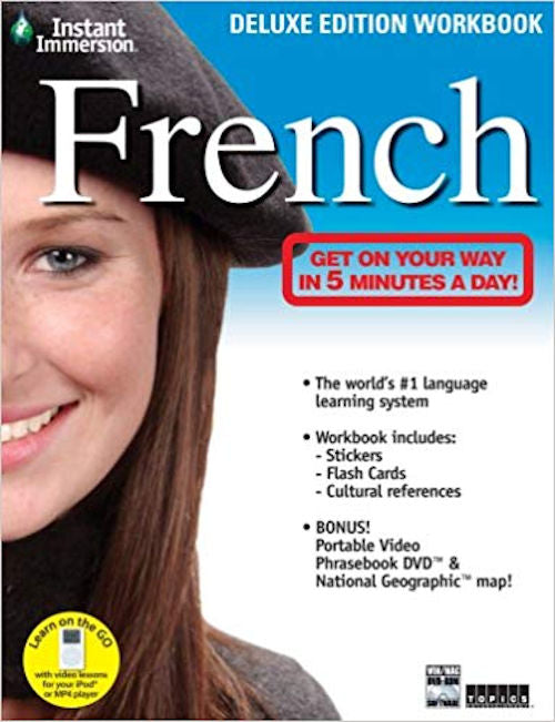 Instant Immersion French Deluxe Workbook and dvd