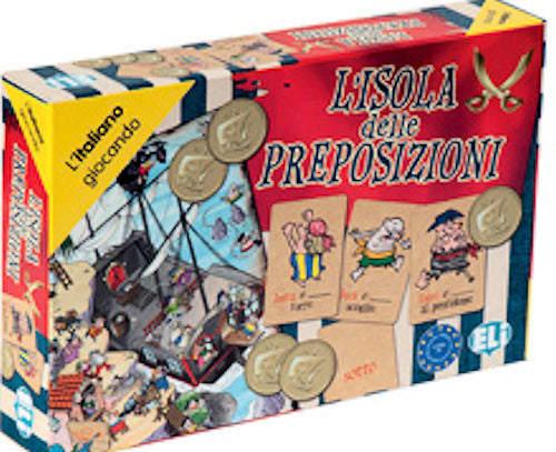 L'Isola delle Preposizioni - This great game for beginning Italian students (level A1-A2) teaches, reinforces and uses place prepositions with pirates and other colorful characters.