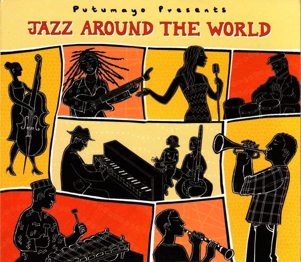 Jazz around the World cd - Jazz with a global twist! Original songs and jazz standards performed by musicians from Cuba to Cameroon.