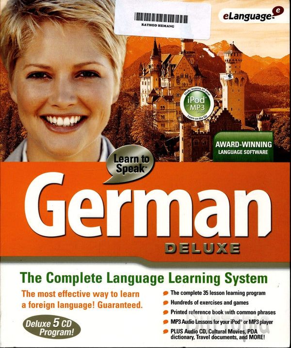 Learn to Speak German Deluxe v. 9.5 - Learn to Speak German interactive software is an expansive language program that uses a wealth of instructional techniques to help you learn German.