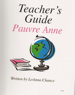 Pauvre Anne Teacher's Guide