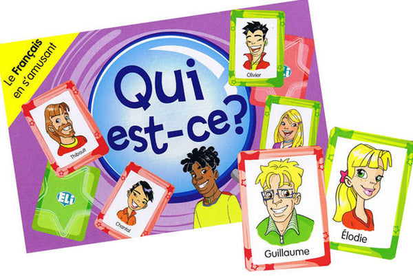 Qui est-ce? A card game for first and second year students (Level A2) to learn and review vocabulary and structures relating to physical descriptions.