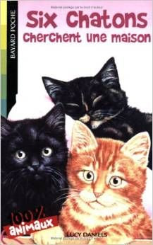 Six Chatons cherchent une maison by Lucy Daniels. French translation of 'Kitten Crowd'.