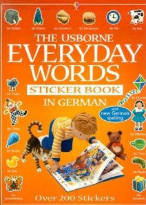 Usborne Everyday Words Sticker Book in German, The
