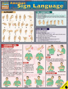 American Sign Language Quick Study Guide