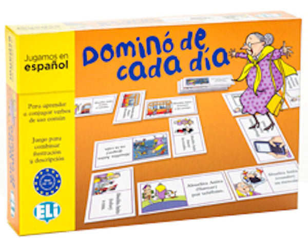Dominó de cada día new edition - Abuelita Anita joins the game in this new edition. Match the correct picture with the action - make it harder and put them in order of sequence.