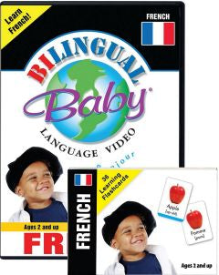 French Bilingual Baby DVD and Flashcards