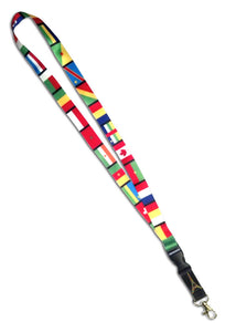 French Speaking Countries Flags Lanyard