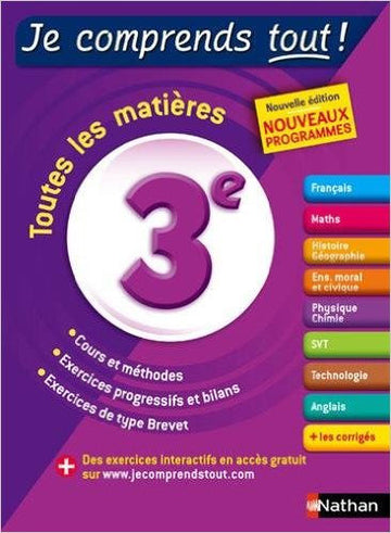 Level 6 - 5th grade - Je comprends tout - Tout en un 3e