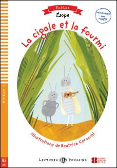 La cigale et la fourmi book and cd-rom