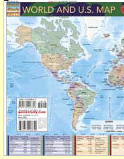 World & US Map laminated guide