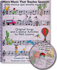 More Music that Teaches Spanish CD and Manual