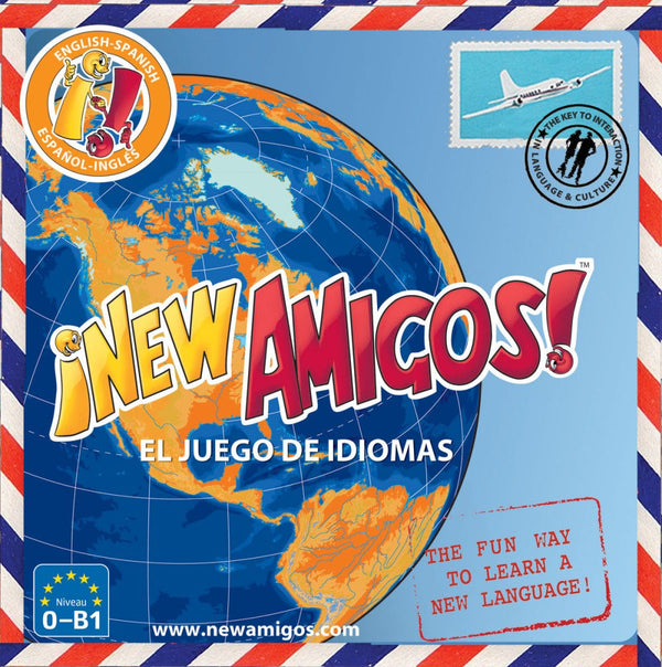 New Amigos  Spanish-English AND English-Spanish is a unique, educational and FUN game.