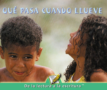 E Level Guided Reading - Qué pasa cuando llueve (When It Rains)