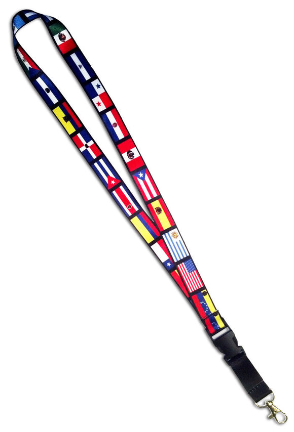 Spanish Speaking Countries Flags Lanyard