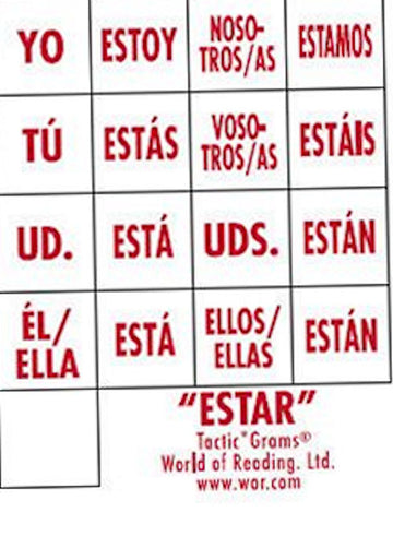 Spanish Tactic*Gram ® Estar