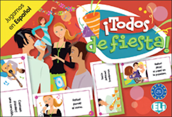 Todos de Fiesta - Fun Spanish board game for intermediate students - Level A2 - B1 to work on verbs.
