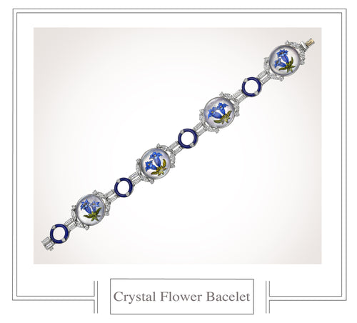 Raymond C. Yard, Crystal, Diamond, Platinum, White Gold Bracelet