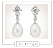 Load image into Gallery viewer, Raymond C. Yard, Pearl and Diamond Earrings
