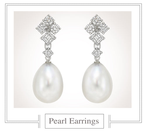 Raymond C. Yard, Pearl and Diamond Earrings