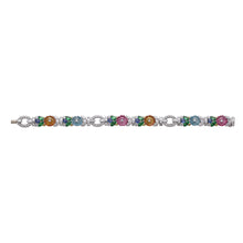 Load image into Gallery viewer, Raymond C. Yard, Multi-Color Gemstones and Diamond, Platinum Bracelet