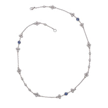 Load image into Gallery viewer, Raymond C. Yard, Sapphire, Diamond, Platinum and White Gold Necklace