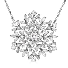 Load image into Gallery viewer, Raymond C. Yard, Snowflake, Diamonds, Platinum, Necklace and Pendant