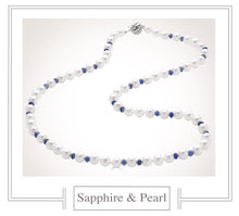 Load image into Gallery viewer, Raymond C. Yard, Pearl and Sapphire Necklace